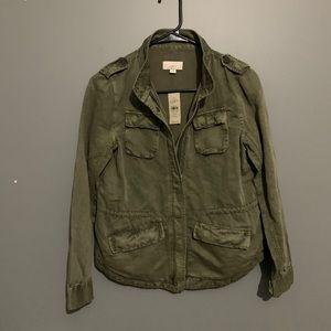 🆕 🍁 LOFT Utility Jacket Dark Caper/Olive XSP